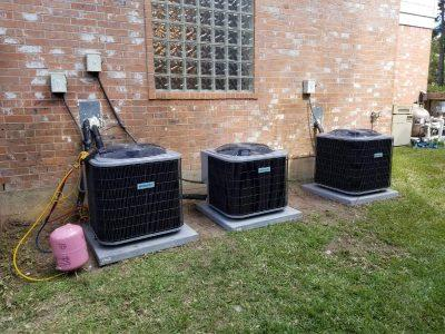 AC unit cooling a home
