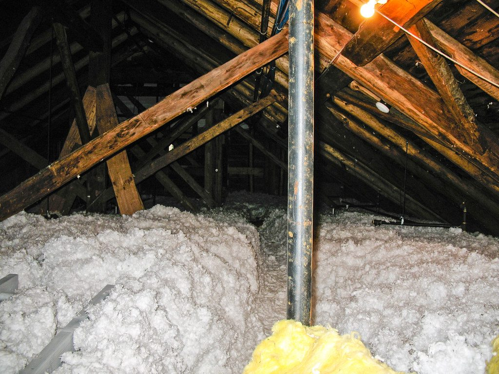 loose fill blown in insulation is a great option.