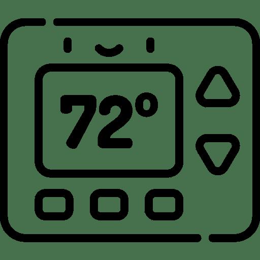 HVAC system thermostat